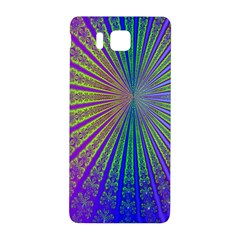 Blue Fractal That Looks Like A Starburst Samsung Galaxy Alpha Hardshell Back Case by Simbadda