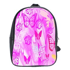 Butterfly Cut Out Pattern Colorful Colors School Bags(large)