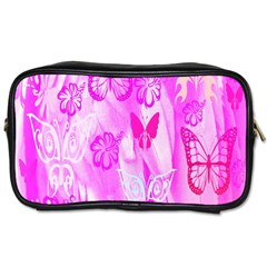 Butterfly Cut Out Pattern Colorful Colors Toiletries Bags 2 Side by Simbadda