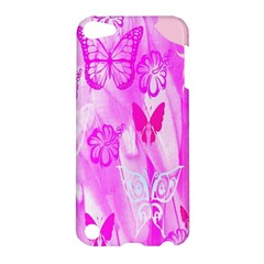 Butterfly Cut Out Pattern Colorful Colors Apple Ipod Touch 5 Hardshell Case by Simbadda
