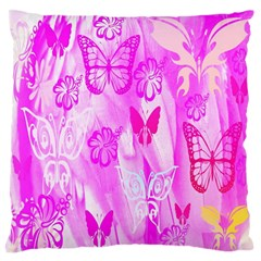 Butterfly Cut Out Pattern Colorful Colors Large Flano Cushion Case (two Sides)