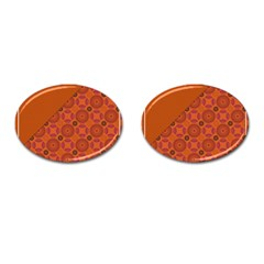 Vintage Paper Kraft Pattern Cufflinks (oval) by Simbadda