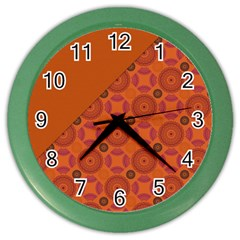 Vintage Paper Kraft Pattern Color Wall Clocks by Simbadda