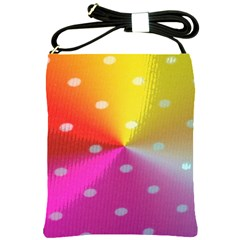 Polka Dots Pattern Colorful Colors Shoulder Sling Bags by Simbadda