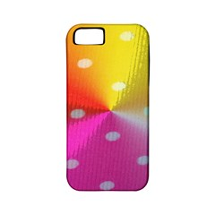 Polka Dots Pattern Colorful Colors Apple Iphone 5 Classic Hardshell Case (pc+silicone)