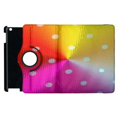 Polka Dots Pattern Colorful Colors Apple Ipad 3/4 Flip 360 Case