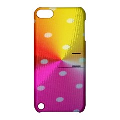 Polka Dots Pattern Colorful Colors Apple Ipod Touch 5 Hardshell Case With Stand by Simbadda