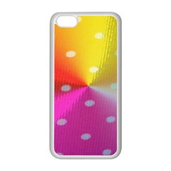 Polka Dots Pattern Colorful Colors Apple Iphone 5c Seamless Case (white)