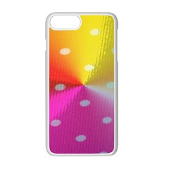 Polka Dots Pattern Colorful Colors Apple Iphone 7 Plus White Seamless Case by Simbadda