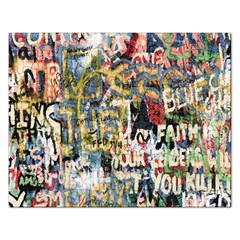 Graffiti Wall Pattern Background Rectangular Jigsaw Puzzl by Simbadda