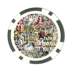 Graffiti Wall Pattern Background Poker Chip Card Guard (10 Pack) by Simbadda