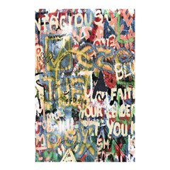 Graffiti Wall Pattern Background Shower Curtain 48  X 72  (small)  by Simbadda