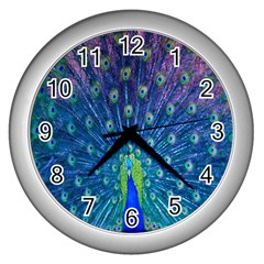 Amazing Peacock Wall Clocks (silver)
