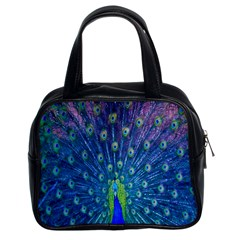 Amazing Peacock Classic Handbags (2 Sides)