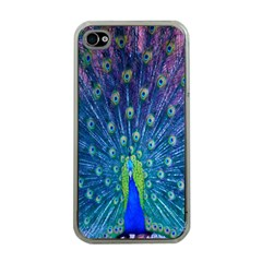 Amazing Peacock Apple Iphone 4 Case (clear) by Simbadda