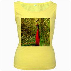 Red Peacock Women s Yellow Tank Top by Simbadda