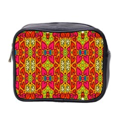 Abstract Background Design With Doodle Hearts Mini Toiletries Bag 2 Side by Simbadda