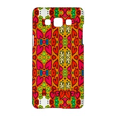 Abstract Background Design With Doodle Hearts Samsung Galaxy A5 Hardshell Case  by Simbadda