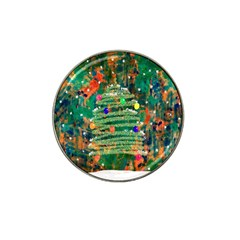 Watercolour Christmas Tree Painting Hat Clip Ball Marker (10 Pack) by Simbadda