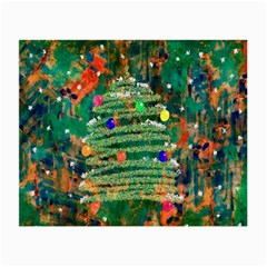 Watercolour Christmas Tree Painting Small Glasses Cloth by Simbadda