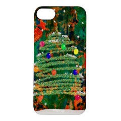 Watercolour Christmas Tree Painting Apple Iphone 5s/ Se Hardshell Case