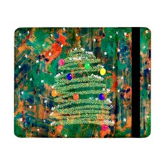 Watercolour Christmas Tree Painting Samsung Galaxy Tab Pro 8 4  Flip Case by Simbadda
