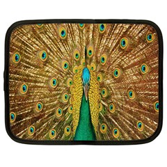 Peacock Bird Feathers Netbook Case (xl)  by Simbadda