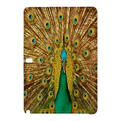 Peacock Bird Feathers Samsung Galaxy Tab Pro 10 1 Hardshell Case by Simbadda