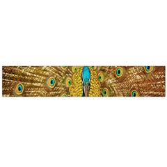 Peacock Bird Feathers Flano Scarf (large)