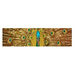 Peacock Bird Feathers Satin Scarf (oblong)