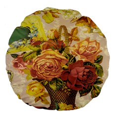 Victorian Background Large 18  Premium Flano Round Cushions by Simbadda