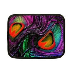 Peacock Feather Rainbow Netbook Case (small)  by Simbadda