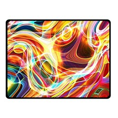 Colourful Abstract Background Design Fleece Blanket (small) by Simbadda
