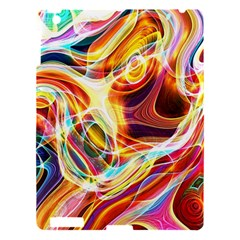 Colourful Abstract Background Design Apple Ipad 3/4 Hardshell Case by Simbadda