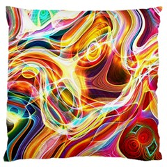 Colourful Abstract Background Design Large Flano Cushion Case (two Sides) by Simbadda