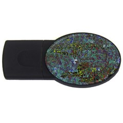 Stone Paints Texture Pattern Usb Flash Drive Oval (4 Gb) by Simbadda