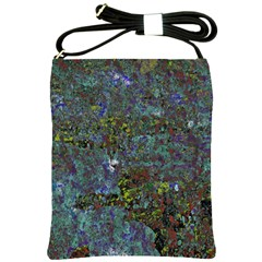 Stone Paints Texture Pattern Shoulder Sling Bags by Simbadda