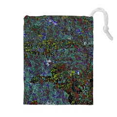 Stone Paints Texture Pattern Drawstring Pouches (extra Large) by Simbadda