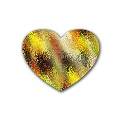 Multi Colored Seamless Abstract Background Heart Coaster (4 Pack)  by Simbadda