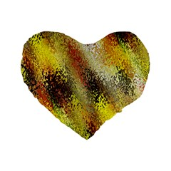 Multi Colored Seamless Abstract Background Standard 16  Premium Flano Heart Shape Cushions by Simbadda