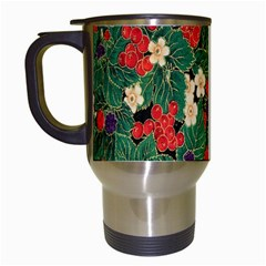 Berries And Leaves Travel Mugs (white)