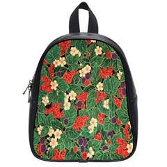 Berries And Leaves School Bags (small)  by Simbadda