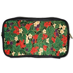 Berries And Leaves Toiletries Bags 2 Side by Simbadda