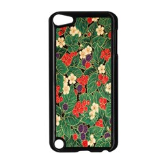 Berries And Leaves Apple Ipod Touch 5 Case (black) by Simbadda