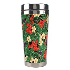 Berries And Leaves Stainless Steel Travel Tumblers by Simbadda