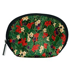 Berries And Leaves Accessory Pouches (medium)  by Simbadda