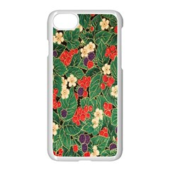 Berries And Leaves Apple Iphone 7 Seamless Case (white)