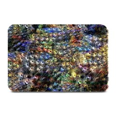 Multi Color Peacock Feathers Plate Mats