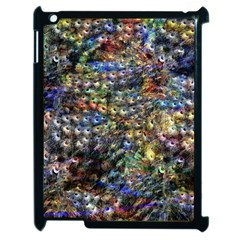 Multi Color Peacock Feathers Apple Ipad 2 Case (black) by Simbadda