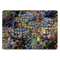 Multi Color Peacock Feathers Samsung Galaxy Tab 10 1  P7500 Flip Case